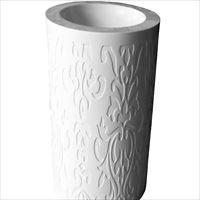 白色人造石立柱盆\圆柱盆\一体式洗手盆