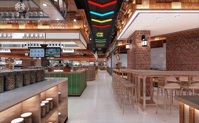 山东餐厅设计-银座商城元亨美食广场