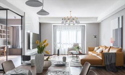 153㎡现代主义4室2厅,轻奢有品玻璃客