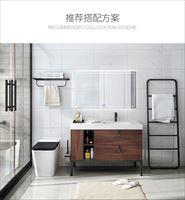 轻奢木纹现代浴室柜