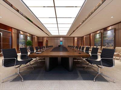 办公室玻璃隔断高隔间设计装修