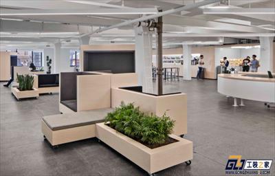 大空间办公室装修效果图