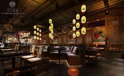 贵州主题餐厅设计-小港巷日式餐厅