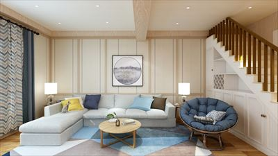 95平米日式风格三室效果图