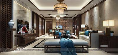 宏发领域新中式装修装饰,深圳南山装修公司