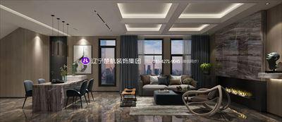 盘锦总部生态城创客小镇212平现代风格装