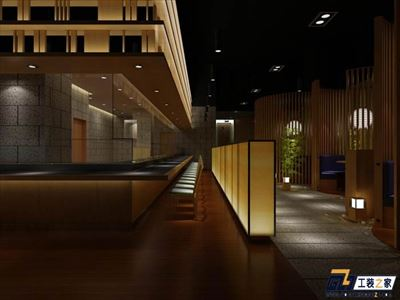 兰州日式料理餐厅装修设计效果图