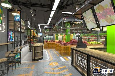 兰州连锁水果店装修设计图