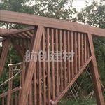 昆明翠湖公园钢结构木纹漆