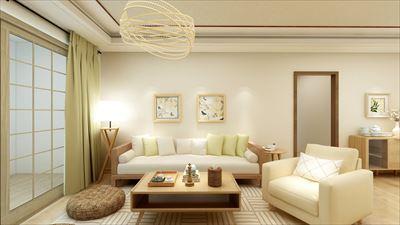104平米日式风格二室效果图