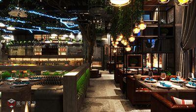 三剑合璧音乐餐厅装修设计