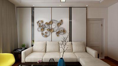 102平米混搭风格三室效果图