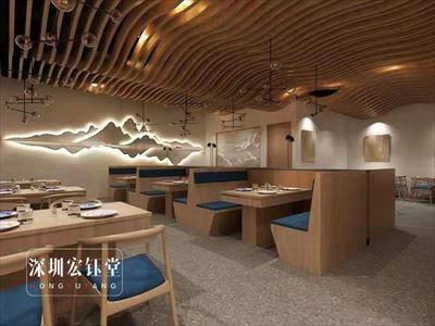 鄭州300平特色連鎖餐廳裝修設計案例