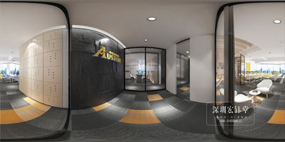 鄭州現代辦公室裝修-奧斯頓總部裝修設計圖