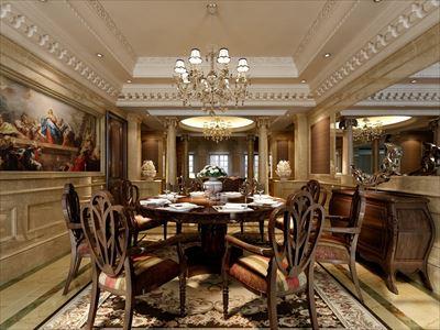 600㎡别墅新古典风格丨成都东易日盛装饰