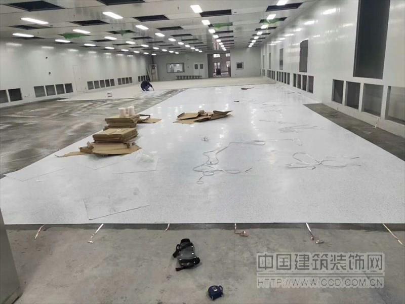 工厂PVC地板仓库塑胶地板地胶安装铺设
