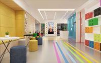 塑胶地板养老院医院学校教室走廊PVC地胶安装