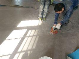 诊所塑胶地板PVC地板地胶安装施工