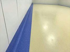 无尘车间PVC地板塑胶地板地胶安装施工