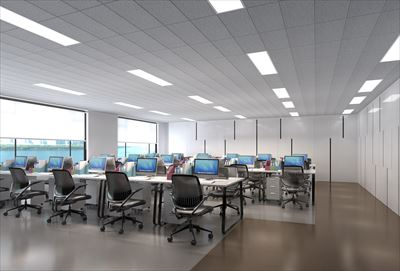 1280㎡办公室超星集团装修效果图