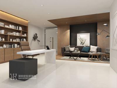 郑州房地产现代办公室装修设计方案