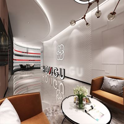 鄭州紅谷尚品現代簡約辦公室裝修設計案例
