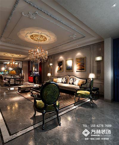 盘锦美的城五期如院138平欧式风格装修效