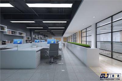 网络科技公司办公室装修效果图