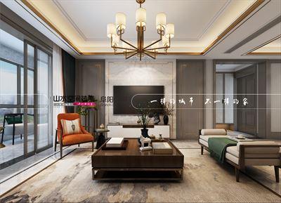 海亮星城120平新中式設計案例