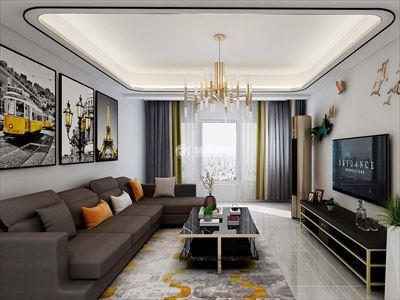 金辉优步湖畔115m2四室两厅现代风格装