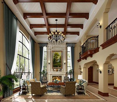 850平米银湖蓝山独栋别墅美式风格装修
