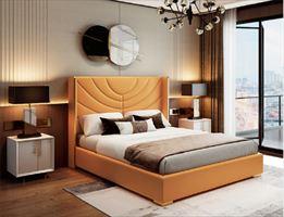 轻奢风格床轻奢卧室家具轻奢床组合皮艺床