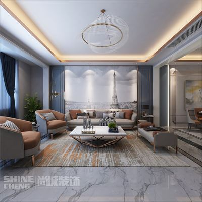 泰安五矿·万境水岸206m2现代轻奢风格