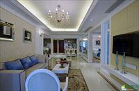 海口两室两厅装修-72平米简欧风格装修案