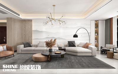 泰安贵和天玺小区150m2现代风格装修设