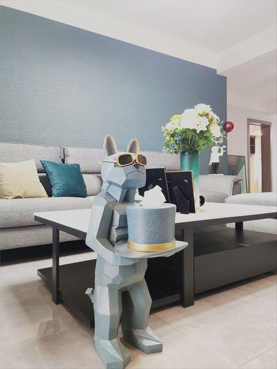 泰安颐和名居小区110平现代轻奢风格装修