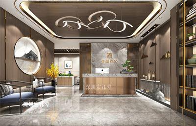 郑州中式办公室装修公司-华融金融中心办公