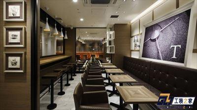西安时尚咖啡店装修设计图