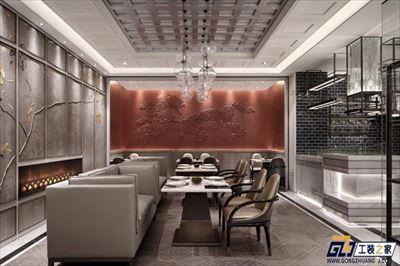 高端大气餐厅装修效果图