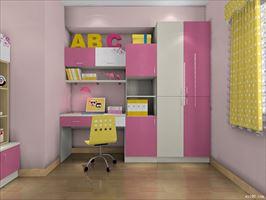 少女的心 粉红色点缀的衣柜