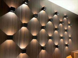 上海木饰面板UV涂装木皮板定制15900467086