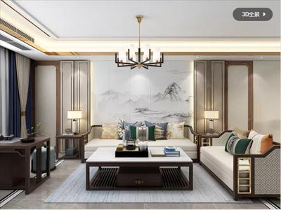 上海155平新中式装修设计案例