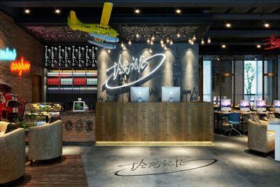 上海700平網咖裝修設計新案例