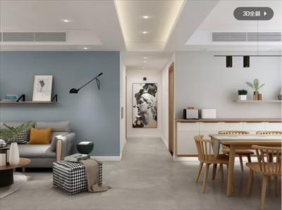154平北欧风格婚房装修设计案例