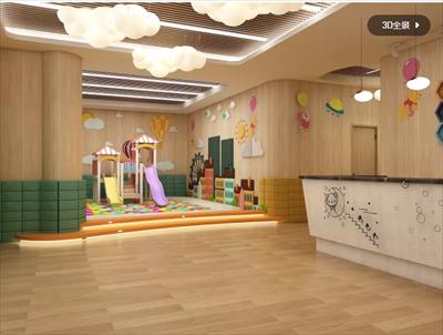 370平早教中心装修设计案例