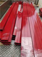 6061硬质本色铝方管喷涂红色黑色铝方管