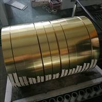 H65端子冲压半硬黄铜带 分条高弹性黄铜带