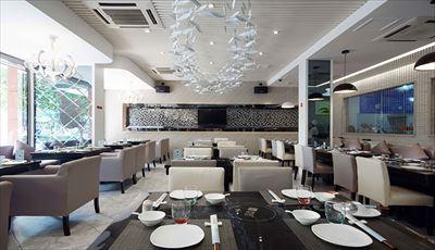 西安科技路餐廳設計裝修效果圖