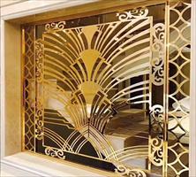 专业定制现代轻奢不锈钢屏风  客厅玄关隔断
