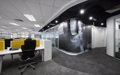 西安600平米办公室装修设计图